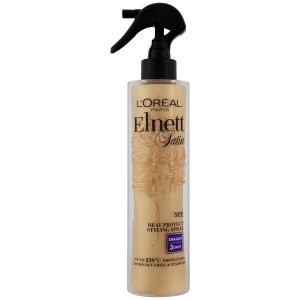Elnett's Heat Protective Styling Spray: high-heat protection and easier styling with memory hold.